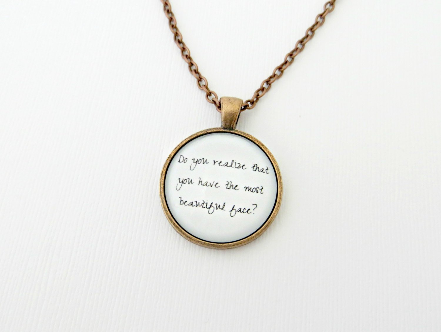 The Flaming Lips Do You Realize Inspired Lyrical Quote Pendant Necklace (Copper 18 inches)
