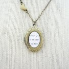 I Love You To The Moon and Back Locket with Moon Charm (Brass, 18 inches)