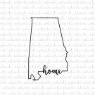 Alabama Home Digital File Download (svg, dxf, png, jpeg)