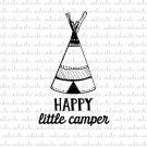 Happy Little Camper Digital File Download (svg, dxf, png, jpeg)