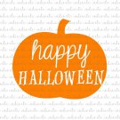 Happy Halloween Pumpkin Digital File Download (svg, dxf, png, jpeg)