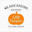We Are Adding Another Little Pumpkin to Our Patch Digital File Download (svg, dxf, png, jpeg)