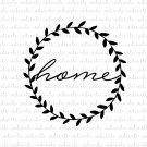 Home with Laurel Design Digital File Download (svg, dxf, png, jpeg)