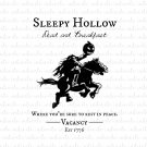 Sleepy Hollow Dead and Breakfast Digital File Download (svg, dxf, png, jpeg)