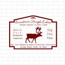 Reindeer Sleigh Rides Down Santa Claus Lane Digital File Download (svg, dxf, png, jpeg)