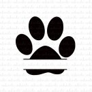Paw Print with Custom Name Space Digital File Download (svg, dxf, png, jpeg) [Dog Cat Pet]