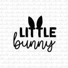 Little Bunny Digital File Download (svg, dxf, png, jpeg) [Easter, Spring]
