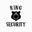 Ring Security Digital File Download (svg, dxf, png, jpeg) [Wedding, Marriage]