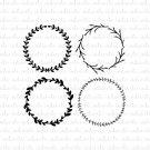 Laurel Wreath Collection Digital File Download (svg, dxf, png, jpeg)
