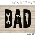 Dad Digital Art File Download with Tools (svg, dxf, png, jpeg) (Father's Day, Father Gift)