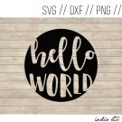 Hello World Digital Art File Download (svg, dxf, png, jpeg)