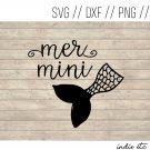 Mer Mini Digital Art File Download with Mermaid Tail (svg, dxf, png, jpeg) (Mermini, Mer-mini)
