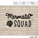 Mermaid Squad Digital Art File Download (svg, dxf, png, jpeg)