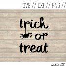 Trick or Treat with Spider Digital Art File Download (svg, dxf, png, jpeg)