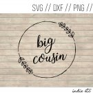 Big Cousin Digital Art File Download (svg, dxf, png, jpeg, cut file, template)