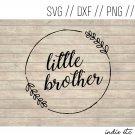 Little Brother Digital Art File Download (svg, dxf, png, jpeg, cut file, template)