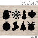 Christmas Earring Digital Art File Download (svg, dxf, jpg) Teardrop Leather Earrings Cut File
