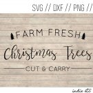 Farm Fresh Christmas Trees Digital Art File Download (svg, dxf, jpg, png, cut file, template)