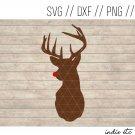 Rudolph Digital Art File Download (svg, png, dxf, jpg, cut file, template)
