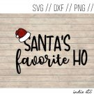 Santa's Favorite Ho Digital Art File Download (svg, png, dxf, jpg, cut file, template)