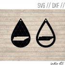 Tennessee Earring Digital Art File Download (svg, dxf, jpg) Teardrop Leather Earrings Cut File