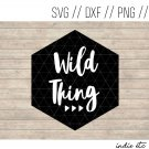 Wild Thing Digital Art File Download (svg, png, dxf, jpg, cut file, template)