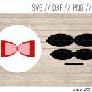 Hair Bow Digital Art File Download (svg, dxf, jpg, png, cut file)