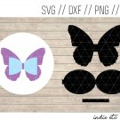 Butterfly Hair Bow Digital Art File Download (svg, dxf, jpg, png, cut file)