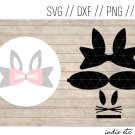Bunny Hair Bow Digital Art File Download (svg, dxf, jpg, png, cut file)