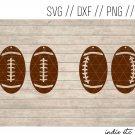 Football Earring Digital Art File Download (svg, dxf, jpg, png) Leather Earrings Cut File