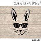 Hip Hop with Easter Bunny Digital Art File Download (svg, png, dxf, jpg, cut file, template)