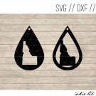 Teardrop Idaho Earring Digital Art File Download (svg, dxf, jpg) Leather Earrings Cut File