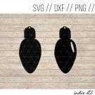 Lightbulb Earring Digital Art File Download (svg, dxf,png, jpg) Leather Earrings Cut File