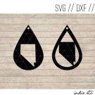 Teardrop Nevada Earring Digital Art File Download (svg, dxf, jpg) Leather Earrings Cut File