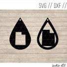 Teardrop Utah Earring Digital Art File Download (svg, dxf, jpg) Leather Earrings Cut File