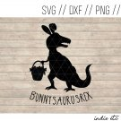 Bunnysaurusrex Easter Digital Art File Download (svg, png, dxf, jpg, cut file, template)