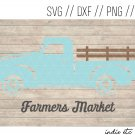 Farmers Market with Truck Digital Art File Download (svg, png, dxf, jpg, cut file, template)
