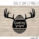 Hunting Season Easter Egg Digital Art File Download (svg, png, dxf, jpg, cut file, template)