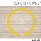 Round Pencil Digital Art File Download (svg, png, dxf, jpg, cut file, template)