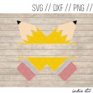 Pencil Digital Art File Name Download (svg, png, dxf, jpg, cut file, template)