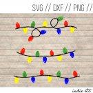 Christmas Lights Digital Art File Download Hand Drawn (svg, png, dxf, jpg, cut file)