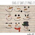 Snowmen Faces Digital Art File Download Hand Drawn (svg, png, dxf, jpg, cut file) Snowman