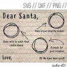 Dear Santa Milk and Cookies Tray Digital Art File Download Hand Drawn (svg, png, dxf, jpg, cut file)