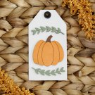 Pumpkin Wooden Tag Sign (Tiered Tray Sign, Shelf Sitter, Wood Sign, Halloween Decor)