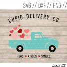 Cupid Delivery Company Truck with Hearts Digital Art File (svg, dxf, png, jpg, cut file)