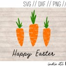 Happy Easter with Carrots Digital Art File Hand Drawn (svg, dxf, png, jpg, cut file, sublimation)
