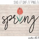 Spring with Flower Digital Art File Hand Drawn (svg, dxf, png, jpg, cut file, sublimation)