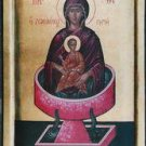 Virgin Mary Life Giving Spring Byzantine Handpainted Icon