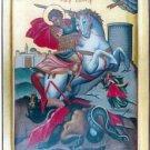 Saint George Slaying the Dragon Byzantine Handpainted Icon