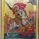 Saint George Slaying the Dragon Byzantine Handpainted Icon